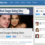 Seekingcougar.com Ranked Amongst Top 11 Cougar Dating sites by Datingadvice.com